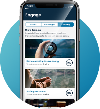 Micro-learning on Engage4 app