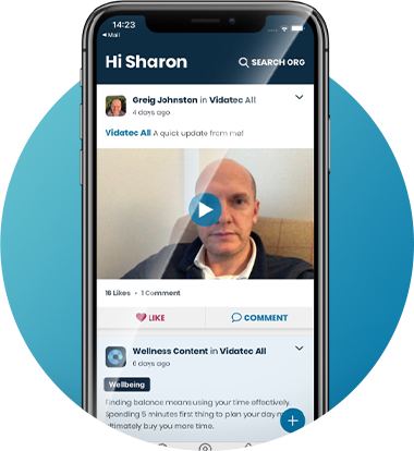 Video content on Engage4 app